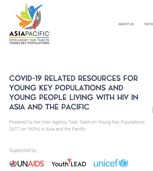 Inter-agency Task Team (IATT) on YKPs AP Launch COVID-19 Resources Website