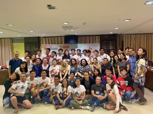 Adolescents from across the Philippines take part in the TeenGen leadership training in Manila